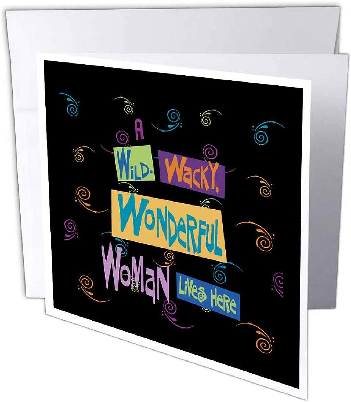 3dRosa gc_18920_2 Grußkarten Wild Wacky Wonderful Woman , 15 x 15 cm, 12 Stück B07BJDJ5ZZ | Um Zuerst Unter ähnlichen Produkten Rang