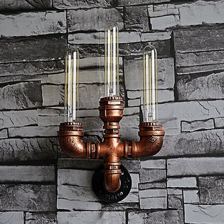 más descuento Modeen Lámpara de Parojo de de de Tubo de Agua de Metal Industrial con luz de exposición de Edison (3 Luces)  calidad auténtica
