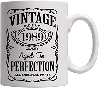 30th Birthday Gifts for Men and Women - Funny Vintage Anniversary Gift Ideas for Dad, Mom, Husband or Wife - Party Decorations for Him or Her Ceramic Coffee Mug Tea Cup White 11 oz.
