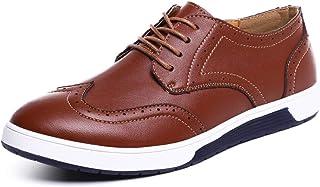 Sanyge Men's Urban Dress Shoes Leather Oxford Shoes Lace Up Classic Workout Flats