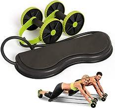 Ab-rollerwiel met weerstandsband voor buikspiertraining, buiktrainer, fitnessapparatuur, 5 soorten sterkte verstelbaar