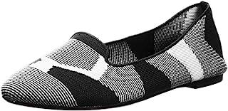 حذاء الباليه المسطح الأنيق للنساء Cleo-Sherlock-Engineered Knit Loafer Skimmer من Skechers