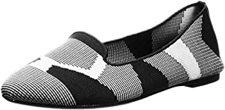 Women's Cleo-Sherlock-Engineered Knit Loafer Skimmer Ballet Flat