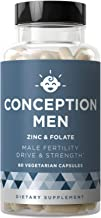 Conception Men Fertility Vitamins – Male Optimal Count, Sperm Motility Strength, Healthy Volume Production – Zinc, Folate, Ashwagandha Pills – 60 Vegetarian Soft Capsules