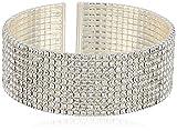 Anne Klein Classics Silvertone Crystal Cuff Bracelet