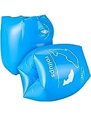 アームリング アームヘルパー 子供用 浮き輪 浮輪 スイミング 大人用 水泳補助 フロート 水泳用品 水遊び 海 プール (ブルー)