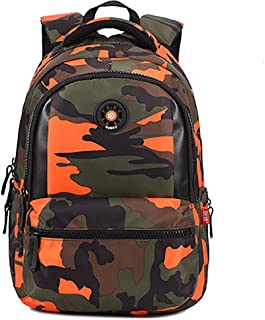 Onirii School backpack For Girls Boys Bookbags Outdoor Dayback Camo Middle Orange