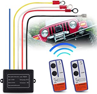 NOWIGOT Universal Wireless Winch Remote 50ft Control 12VSwitch Handset Kit for Car Truck Jeep ATV SUV