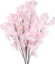 XHXSTORE 3PCS Künstliche Blumen Rosa Kunstblumen Kirschblü