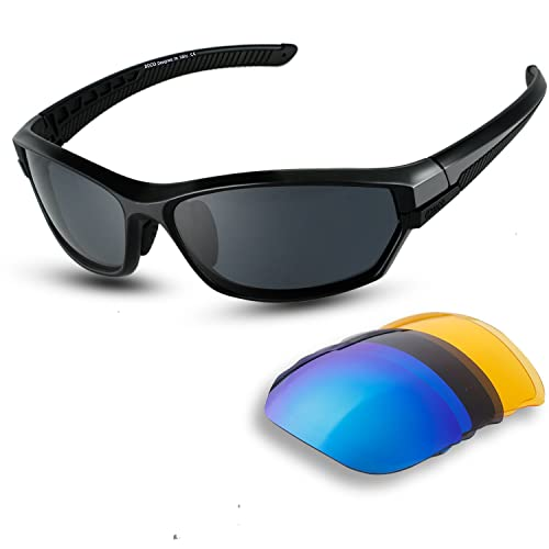 e8c2bb6095b5 DUCO Polarized Sports Mens Sunglasses for Ski Driving Golf Running Cycling  TR90 Super Light Frame with