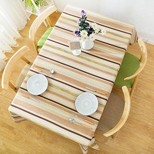 Lying Modern Simple Stripe Table Tissu Littérature et Art Bleu Salon Table basse Cloth Hôtel Restaurant Nappe Rectangulaire - Décoration de table (Couleur : #1, taille : 130 * 240CM)