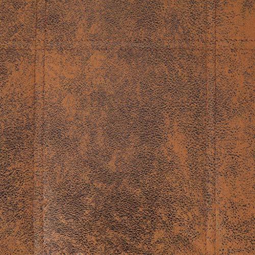 vidaXL Sdraio Imbottita Elegante Ergonomica Cislonga Chaise Longue Lettino Arredo Salotto Ottomana Gambe in Acciaio Marrone in Similpelle Scamosciata