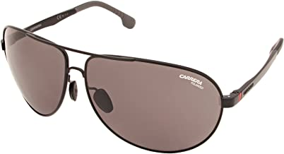Carrera Men's Carrera 8023/s Polarized Aviator Sunglasses, MATTE BLACK, 65 mm