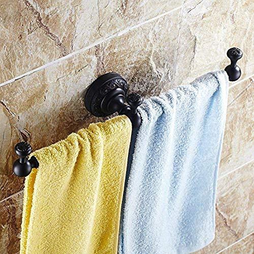 JKCKHA Norte de Europa Los estantes de baño Bar Bar Bastidores Percha de baño de una Barra de Cobre Estante Accesorios de Bronce Negro Negro Sola Barra baño Cuarto de baño (A07F)