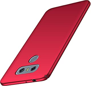 Arkour LG G6 Case, Minimalist Ultra Thin Slim Fit Smooth Matte Surface Hard PC Cover for LG G6 (Red)