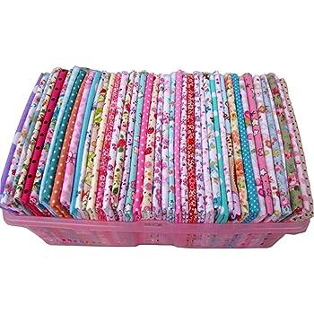 50 piezas 20 cm * 25 cm Tela de Algodón Superior Sin Repetir Diseño Telas de Patchwork Quilting Para Coser Tilda Doll Tela Textil ...: Amazon.es: Hogar