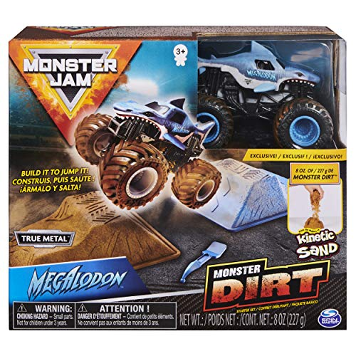 Monster Jam 6045198 - Monster Dirt - Starterset, mit 226 g Monster Dirt und Monster Jam Truck im Maßstab 1:64 (Sortierung mit verschiedenen Designs)