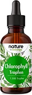 Klorofylldroppar (50 ml) från alfalfa - 200 mg flytande klorofyll per daglig dos - Utan konserveringsmedel - 100% vegansk ...