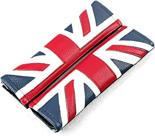Flypc Seat Belt Covers Safety Shoulder Strap Cushion Harness Pad for Mini Cooper Cars Embroidered Badge Adults and Children Shoulder Pad Opening Fiber 2 Pack (Red & Blue Union Jack Flag Style)