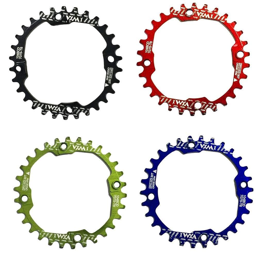 所持宇宙船韓国語Propenary - 1PC Bicycle Chainwheel Crank 30T 104BCD Aluminum Alloy Narrow Wide Chainring Round Bike Chainwheel Crankset Bicycle Parts [ Black ]