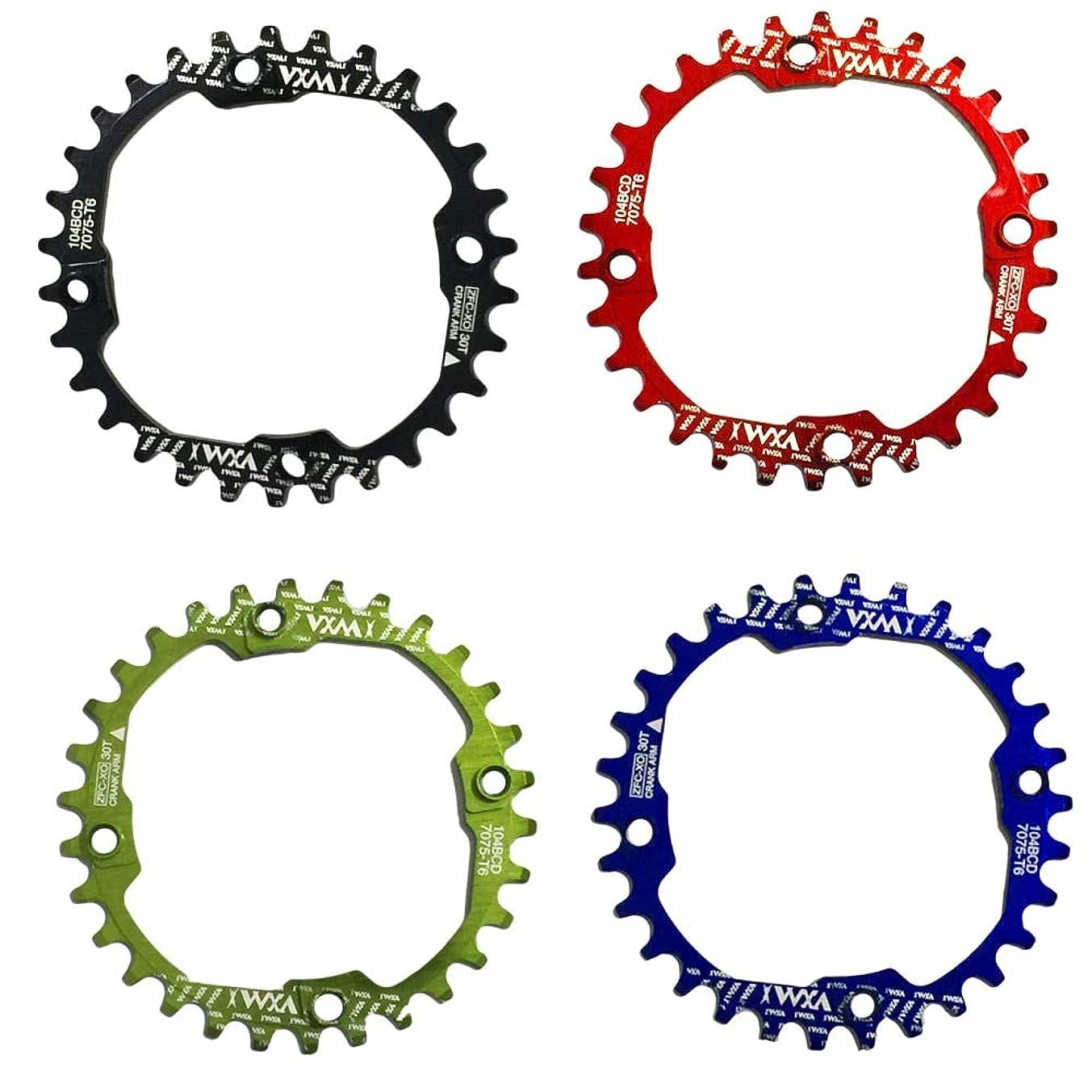ぶら下がる髄無礼にPropenary - 1PC Bicycle Chainwheel Crank 30T 104BCD Aluminum Alloy Narrow Wide Chainring Round Bike Chainwheel Crankset Bicycle Parts [ Red ]