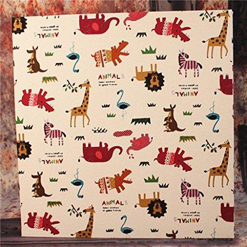 Eenvoudige linnen zak fotoalbum album interstitials Animal