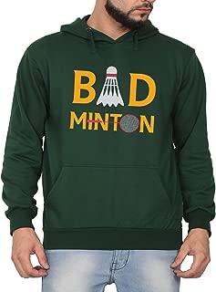 Swag Swami Unisex CottonBad Minton Funny Shuttle BadmintonPrinted Hoodie | Hooded Sweatshirt