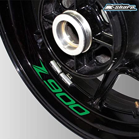 Stickman Vinyls Matt Grün Motorrad Motorradfelge Decal Accessory Aufkleber Kompatibel Mit Kawasaki Z900 Auto