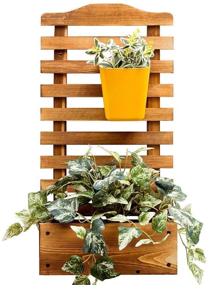 NMDCDH Jardinera Rectangular de Madera para jardín con Enrejado para Enredaderas Jardín Que Sube Planta de Flores Maceta Caja Jardín Patio Panel de Enrejado de Madera - L: 30XW: 16XH: 60cm: Amazon.es: