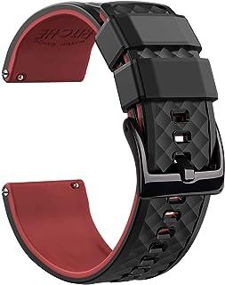 باندهای تماشایی Ritche Silicone 18mm 20mm 22mm و باندهای تماشای سریع لاستیک برای آقایان
