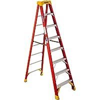 Deals on Werner 8 ft. H X 26.88 in. W Fiberglass Step Ladder 300 lb