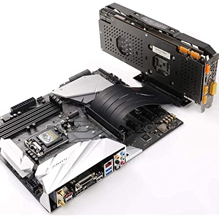 High Speed PCI Express Riser Card PCI-E 3.0 x 16 Riser Card Extender Ribbon Flexible Extension Cable 180 Degree for Computer Graphic Cards (180°)