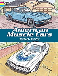 american muscle cars coloring book 1960 - 1975