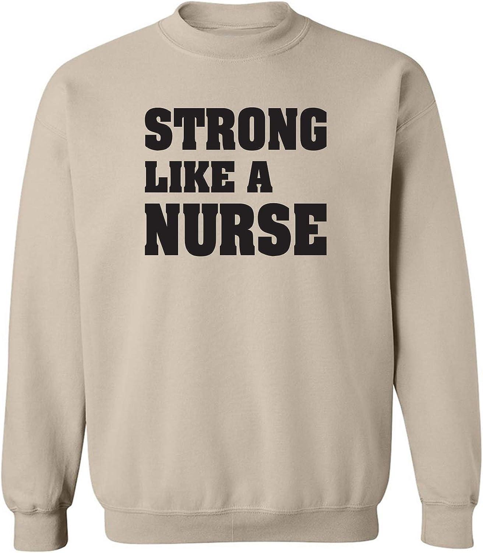 zerogravitee Strong Like a Nurse Crewneck Sweatshirt