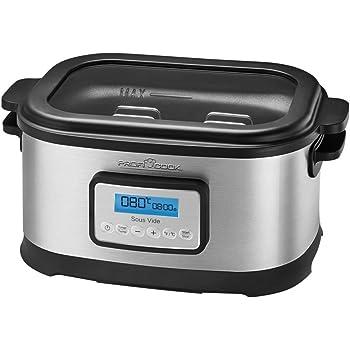 PROFI COOK PC-SV 1112 - Cocotte mijoteuse et cuiseur sous vide basse température - Capacité 8,5 Litres - 520 Watts - Couleur Argent et noir