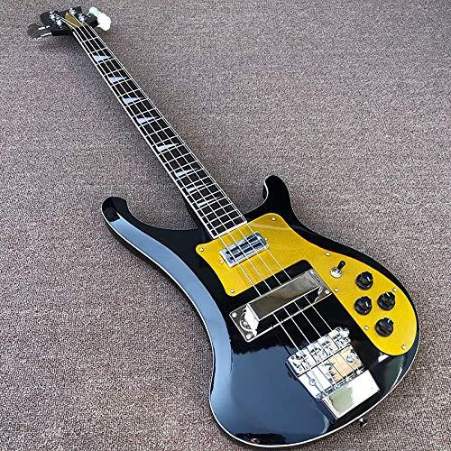 MLKJSYBA Guitarra 4 String Bass Guitarra Eléctrica Pintura Negra Guitarra Eléctrica Guitarras De Cuerda Acústica Acústica Guitarras acústicas (Color : Bass, Size : 43 Inches)