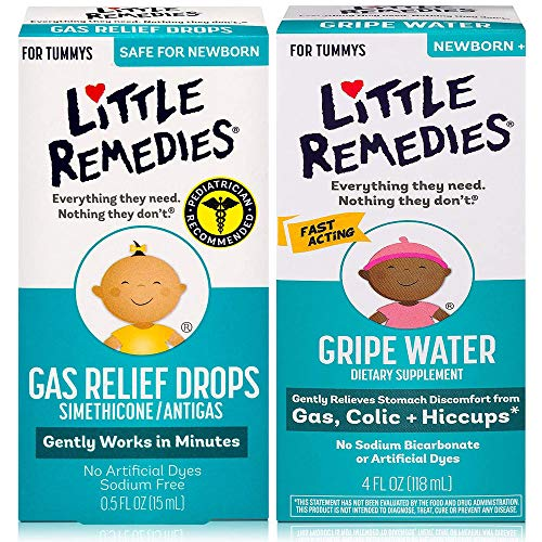 Little Remedies Gripe Water 4 oz and Gas Relief Drops 0.5 oz Pack, Safe for Newborns
