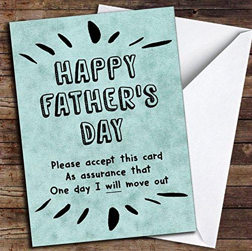 Op een dag zal ik verhuizen uit grappige vader gepersonaliseerde Vaderdag kaart