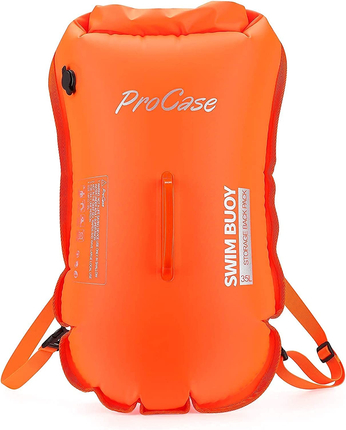 6 Pack ProCase Universal Waterproof Pouch Cellphone Dry Bag Bundle with 35L Waterproof Swim Buoy Backpack
