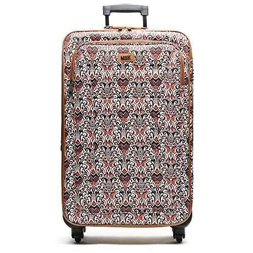Misako – Maleta de Viaje OSA Mediana 69 X 35 X 23CM - 53L - 3,0KG en Color Teja | 4 Ruedas Giratorias | Maleta Blanda de Gran Tamaño | Estampado Arábico