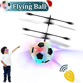 Kids Flying Ball Toys, RC Flying Ball Hand Operated Infrared Induction Helicopter Mini Drones Rechargeable Light Up Toy with Remote Controller Indoor Outdoor Games Boys Girls Holiday Birthday Gift