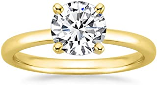 1.5 Ct Round Cut 4 Prong Solitaire Diamond Engagement Ring 14K White Gold (K Color SI2 Clarity)