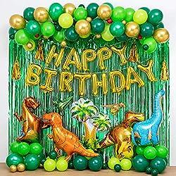 6. LFVIK Dinosaur Birthday Party Decorations and Balloon Arch Kit (80 pcs)