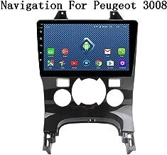 QXHELI Doble DIN 9 Pulgadas Android 8.1 Estéreo del Coche Radio De Coche para Peugeot 3008 2009-2012 Navegación GPS De Pantalla Táctil del Coche Media Player Espejo Enlace WiFi BT SWC