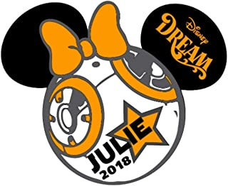 LARGE Personalized Disney BB8 Star Wars Inspired Magnet for Disney Cruise with your Name BB-8