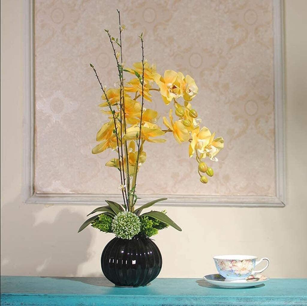LIYUHOUZUONC Genuine Flower Vases Decorative Free Shipping New Fl Modern Orchid Artificial