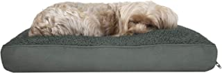 Furhaven Pet Dog Bed - Deluxe Snuggle Terry and Suede Pillow Cushion Traditional Mattress Pet Bed with Removable Cover for...
