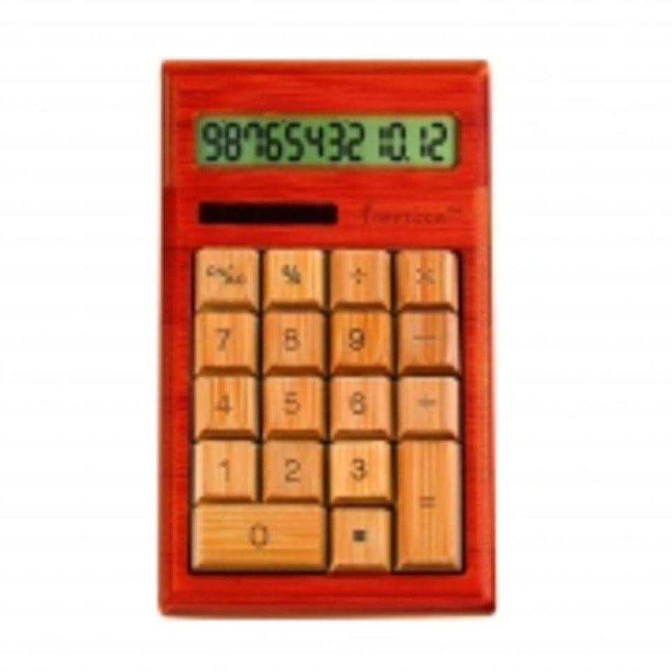 競争力のある発火するエリート12-digits竹カスタム彫刻デスクトップ電卓?–?チェリー色家電