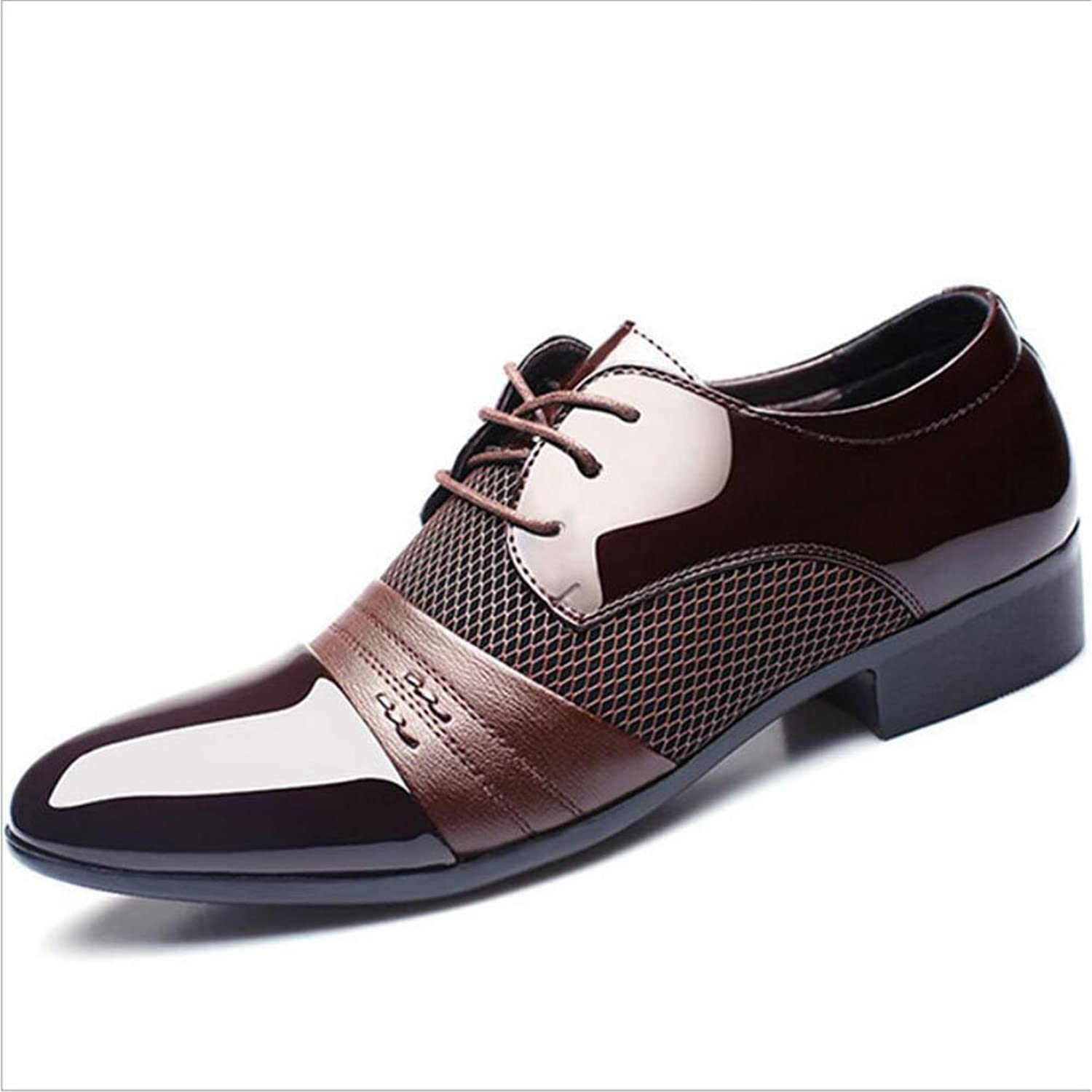 Gfp Men's Leather shoes Men's Business Leather shoes (Polyurethane) Spring Fall Formal shoes shoes Black Brown Wedding Party & Evening