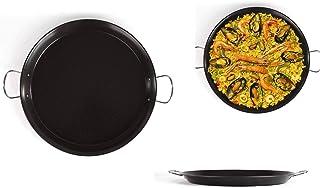Paellera 46 cm Sartén grande Paella sartén (Servierpfanne acero al carbono, antiadherente)
